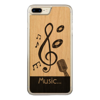 Music Lover Carved iPhone 7 Plus Case