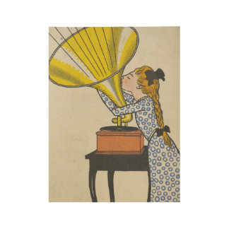 Music Lover Fine Art Wood Poster