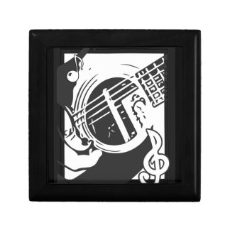 Music Lover Guitar Playing black and white Gift Box