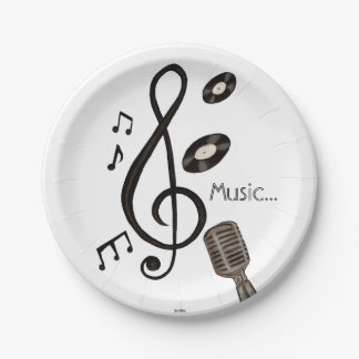 Music Lover Paper Plate