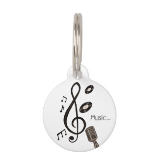 Music Lover Pet Name Tag