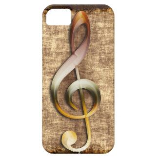 Music-lover s Antique Treble Clef iPhone 5 Case
