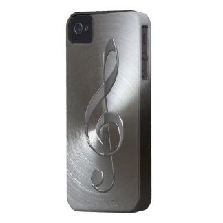 Music-lover s Silver Treble Cleff Blackberry Case