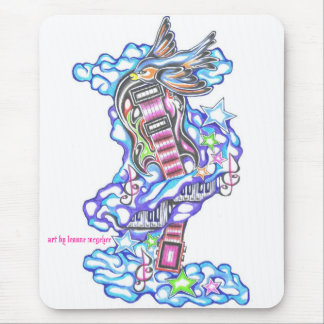 music lover tattoo mouse pad