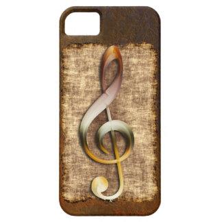 Music-lover's Antique Treble Clef iPhone 5 Case