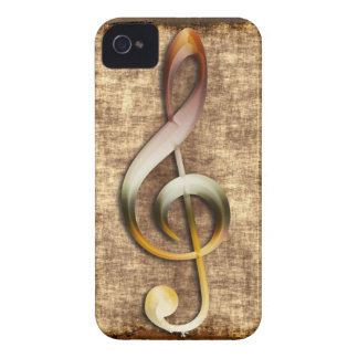 Music-lover's Artistic Treble Clef Phone Case Case-Mate iPhone 4 Case