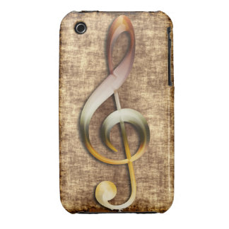 Music-lover's Artistic Treble Clef Phone Case iPhone 3 Case-Mate Cases