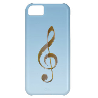 Music-lover's Gold Treble Clef iPhone 5 Case