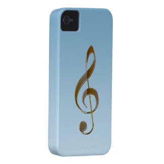 Music-lover's Gold Treble Clef Samsung Case iPhone 4 Case-Mate Case