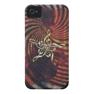 Music-lover's Golden Treble Clefs Samsung Case iPhone 4 Covers