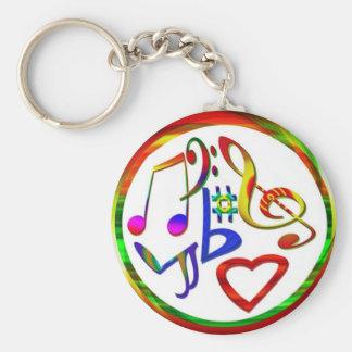Music Lovers Key Ring