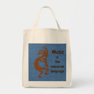 Music Lovers Kokopelli Southwest Love Music Tote Bag