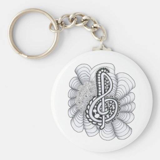 Music Lovers Treble Clef Design Key Chains