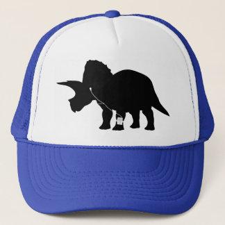 Music loving Triceratops design Cap