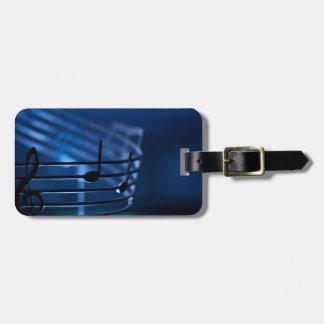 Music Luggage Tag