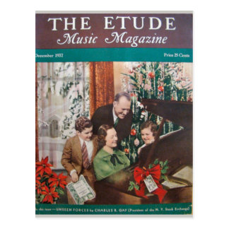 Music Magazine, 'The Etude' December 1937 Postcard