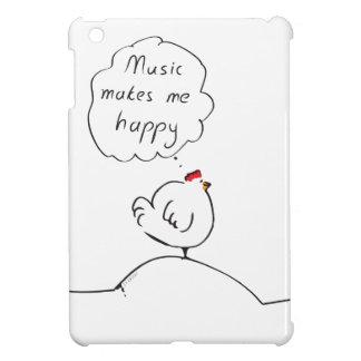 Music makes me happy iPad mini cover