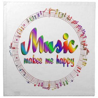 Music Makes Me Happy Napkin
