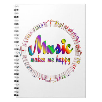 Music Makes Me Happy Notebooks