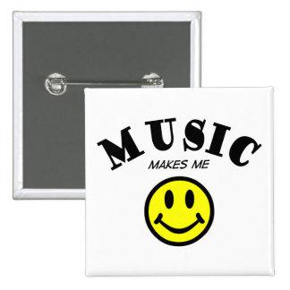 Music Makes Me Smile Button