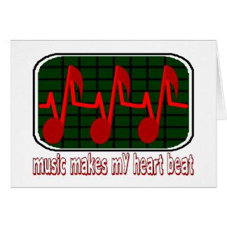Music Makes My Heart Beat Card