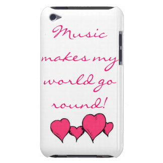 Music makes my world spin iPod Case-Mate cases