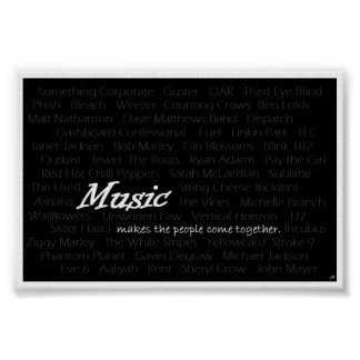 Music makes the people come together poster