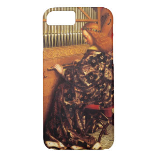 MUSIC MAKING CHRISTMAS ANGEL /Organ Player iPhone 8/7 Case
