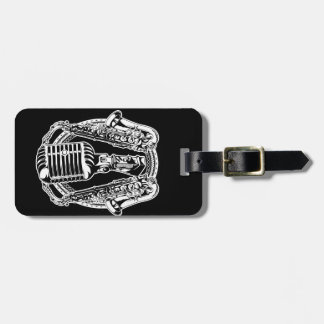 Music Microphone Luggage Tag