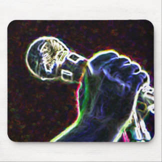 music microphone singer mouse pad