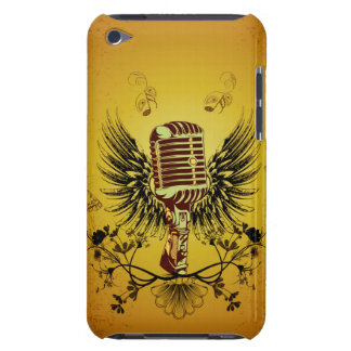 Music, microphone with wings Case-Mate iPod touch case