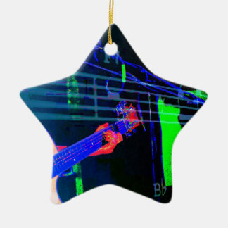 Music Mike- Neon Version Ceramic Ornament