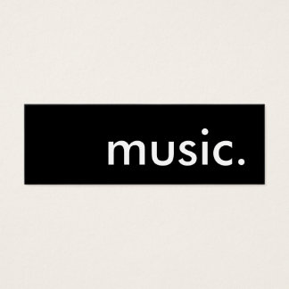 music. mini business card