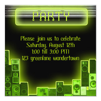 Music modern party invitation