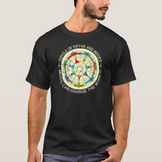 Music Modes Chart and Circle of Fifths T-Shirt