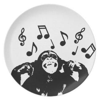 music monkeymonkey dinner plates