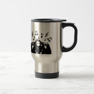 music monkeymonkey stainless steel travel mug