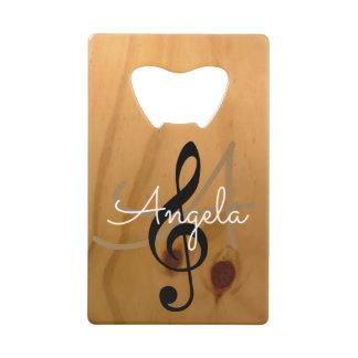 music monogram on wood rustic & sophisticated