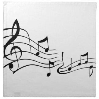 Music (Music) Cloth Napkin