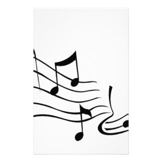 Music (Music) Stationery Paper