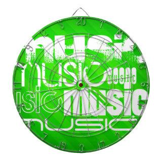 Music; Neon Green Stripes Dartboards