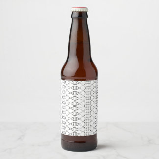 Music Nordic Knit Text ASCII Art Black and White Beer Bottle Label