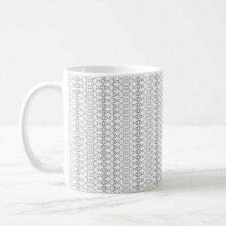 Music Nordic Knit Text ASCII Art Black and White Coffee Mug