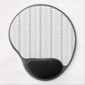 Music Nordic Knit Text ASCII Art Black and White Gel Mouse Pad