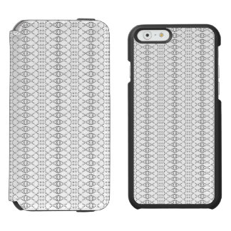Music Nordic Knit Text ASCII Art Black and White Incipio Watson™ iPhone 6 Wallet Case