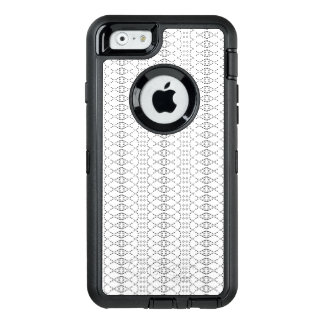 Music Nordic Knit Text ASCII Art Black and White OtterBox Defender iPhone Case