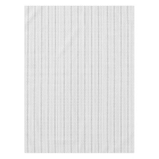 Music Nordic Knit Text ASCII Art Black and White Tablecloth