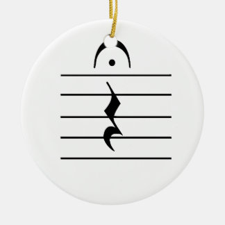 Music Notation Rest Blank Christmas Tree Ornaments