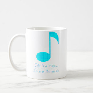 music note 1, Life is a song...Love is the music Coffee Mug