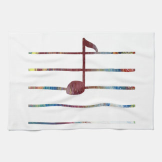 Music Note Art Tea Towel